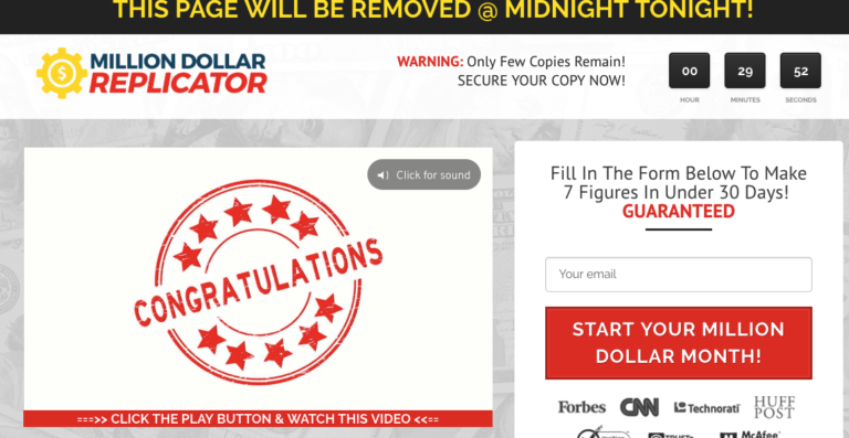 Million Dollar Replicator Homepage