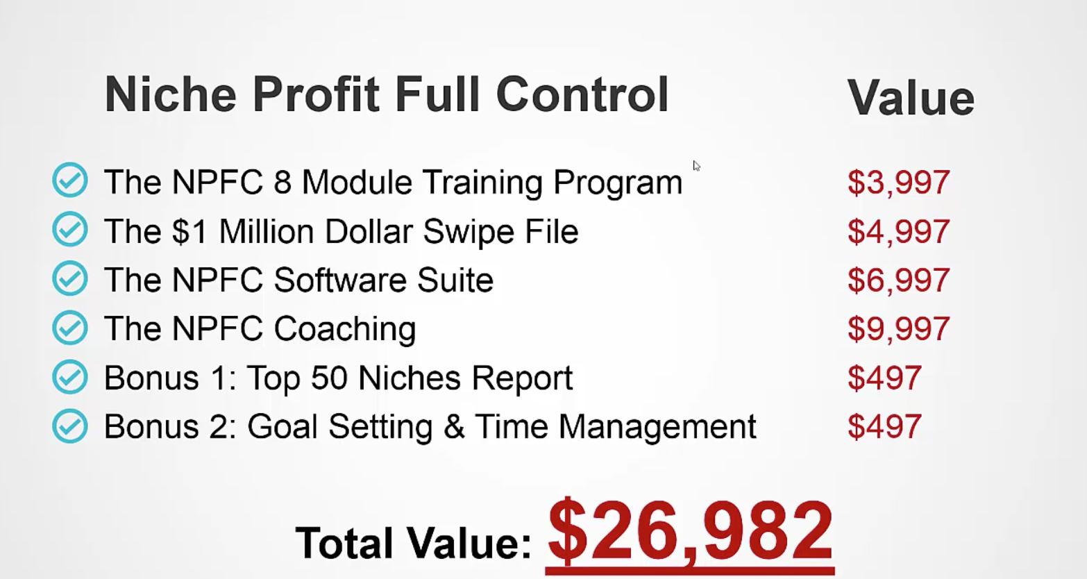 Niche Profit Classroom Promotions