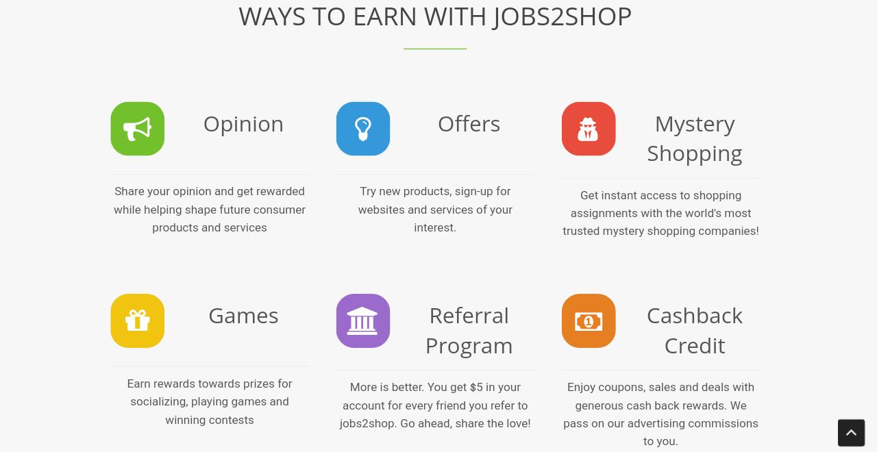 Jobs2Shop Ways To Earn