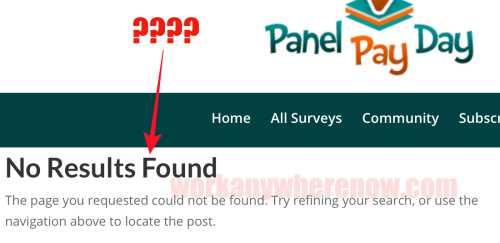 Panel Payday Broken Links