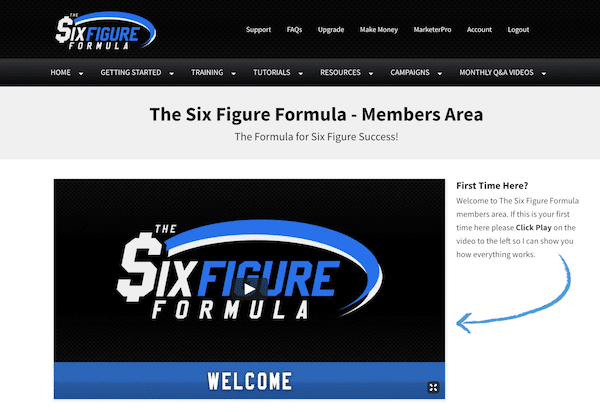 The Six Figure Formula Homepage