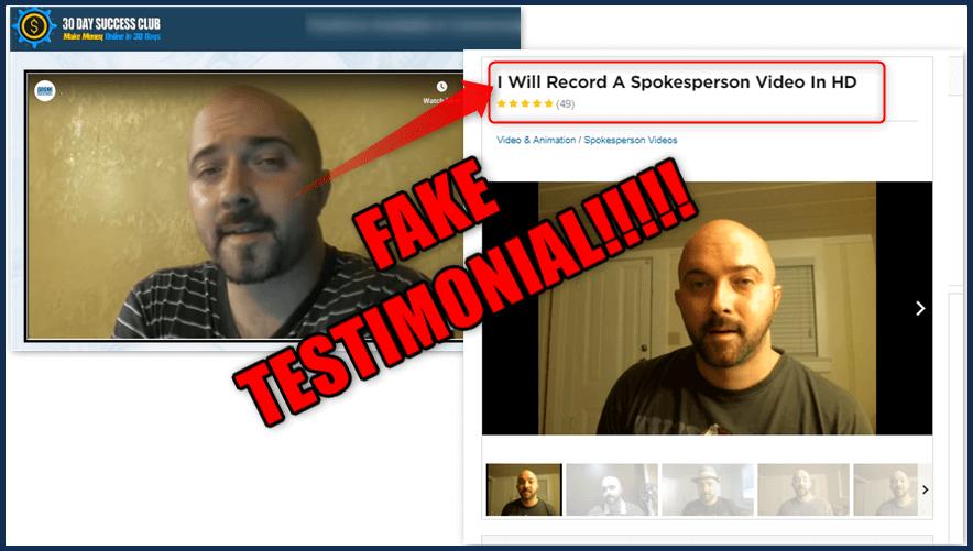 30 Day Success Club Fake Testimonial Again