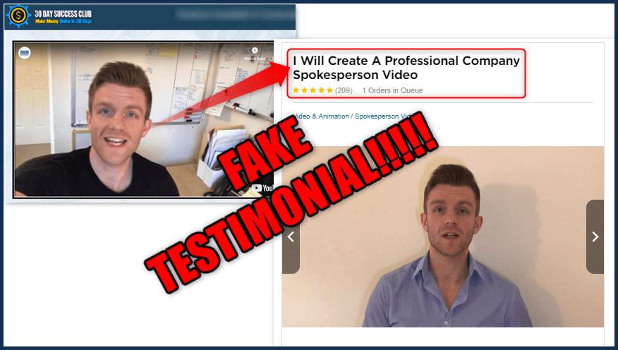30 Day Success Club Fake Testimonial