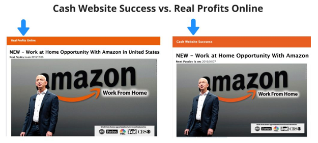 Cash Website Success Side By Side