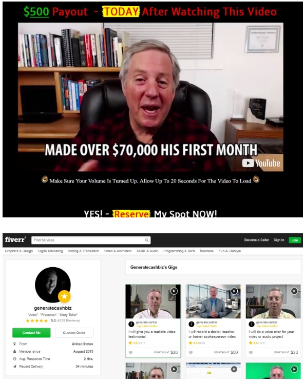 Easy Retired Millionaire Fake Testimonial And Fiverr Account