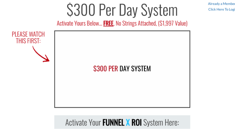 Funnel X ROI Landing Page
