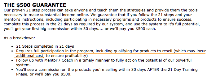 Online Success Plan 500 Guarantee