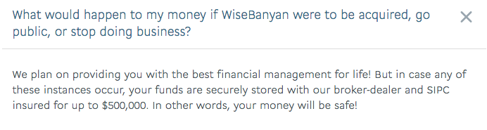 WiseBanyan If It Stops Doing Business