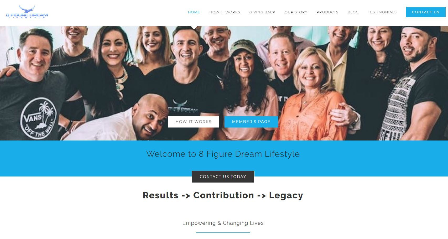 8 Figure Dream Lifestyle Landing Page