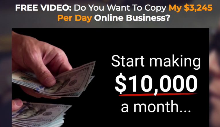 Copy The Millionaire Landing Page
