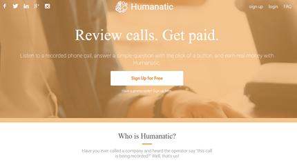 Humanatic Landing Page