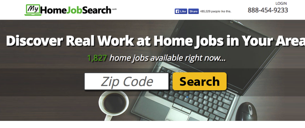 My Home Job Search Landing Page