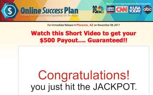 My Online Success Plan Success Plan Landing Page