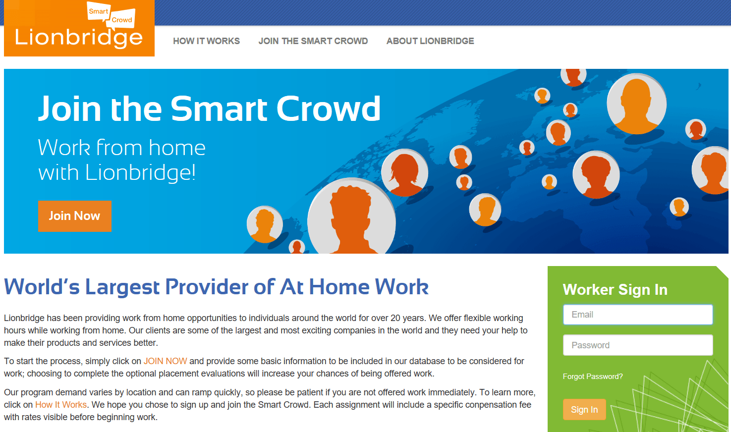 The Smart Crowd Landing Page