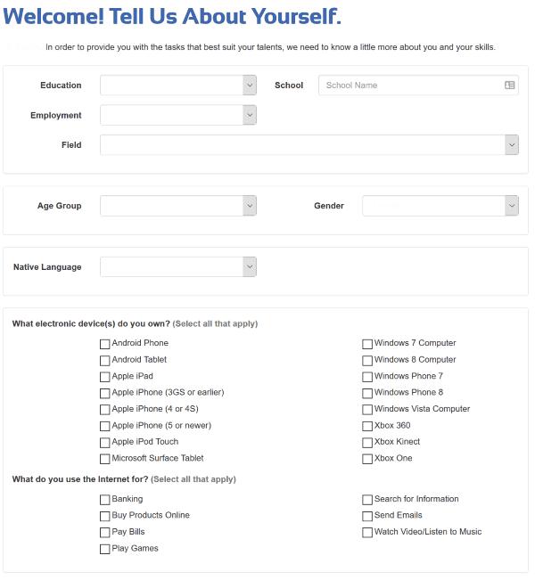 The Smart Crowd Profile Questionnaire