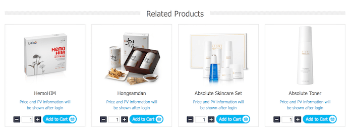 Atomy Product Line