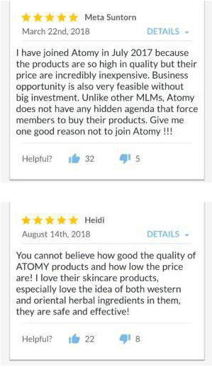 Atomy Product Review
