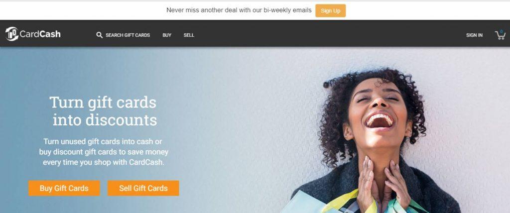 CardCash Landing Page