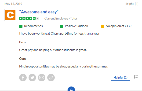 Is Chegg Tutors a Scam - Complaint about Limited Opportunity Again