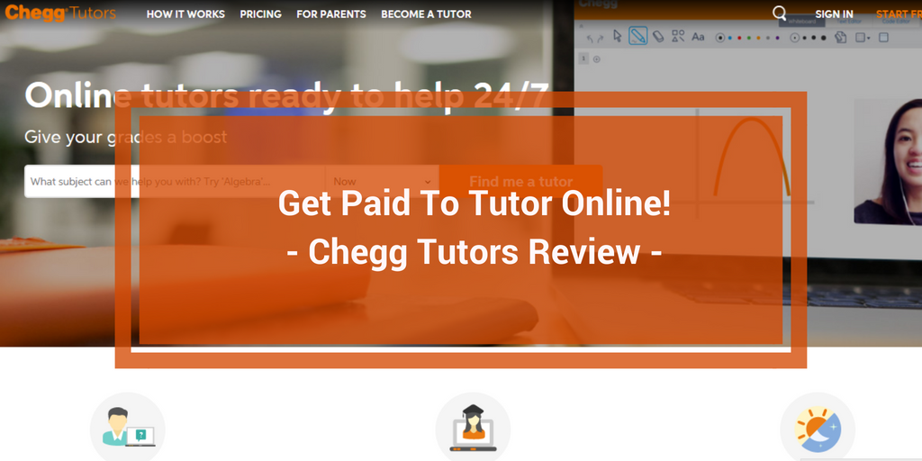 Is Chegg Tutors a Scam - Landing Page