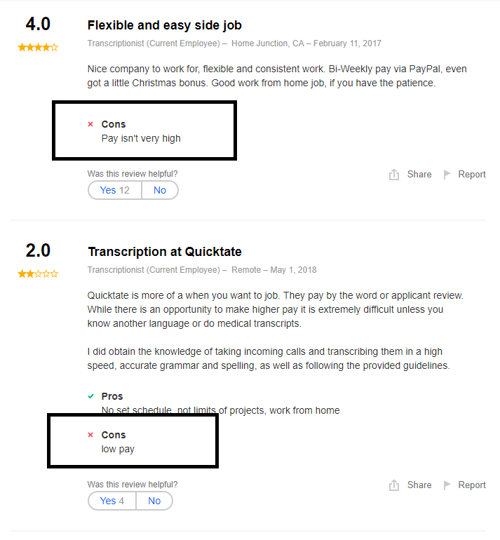 Is Quicktate a Scam - Indeed Comments