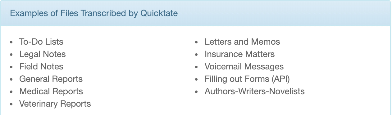 Is Quicktate a Scam - Types Of Jobs