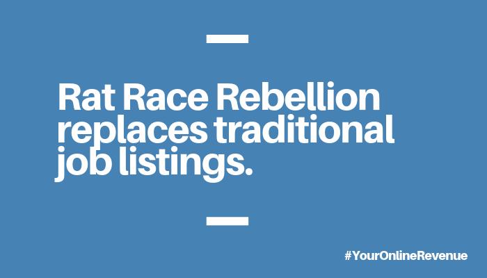 Is Rat Race Rebellion a Scam - Job Banner