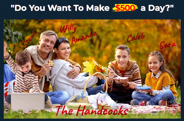 Is Money Sucking Websites a Scam - Owner Willy Handcock and Family