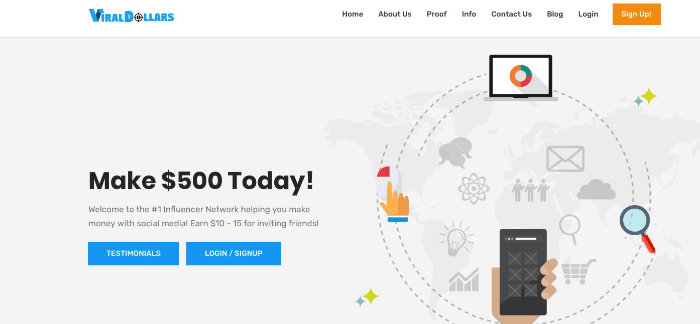 Viral Dollars Review - Landing Page