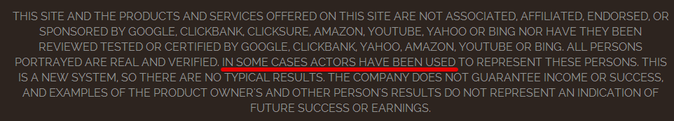 Click Clone Cash - Actors Hired On Their Disclaimer