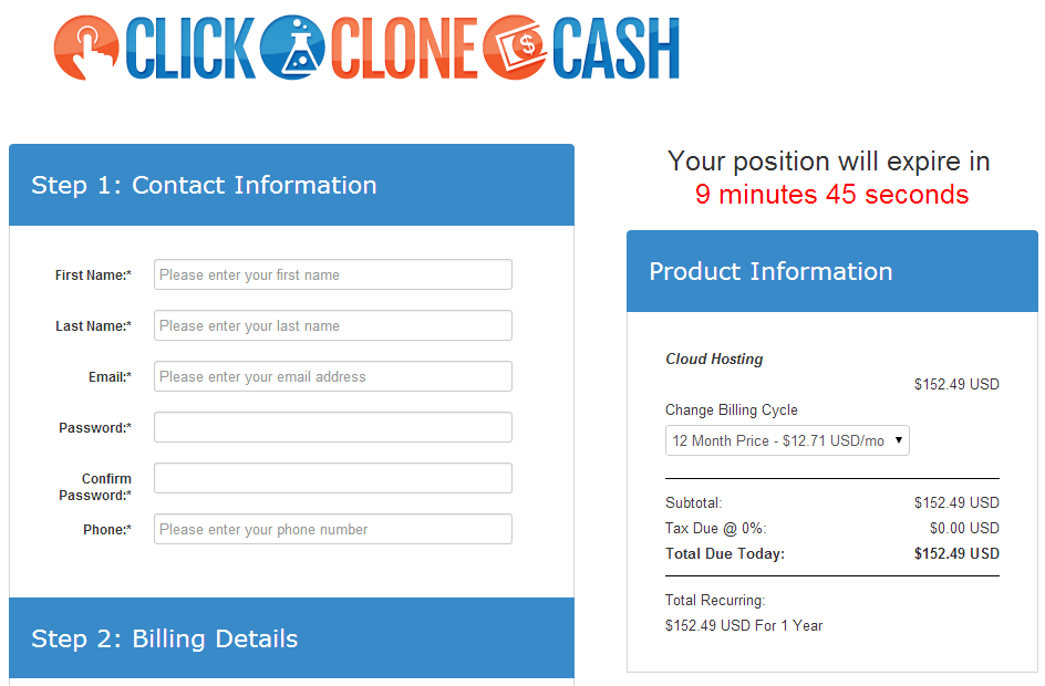 Click Clone Cash - Actual Product