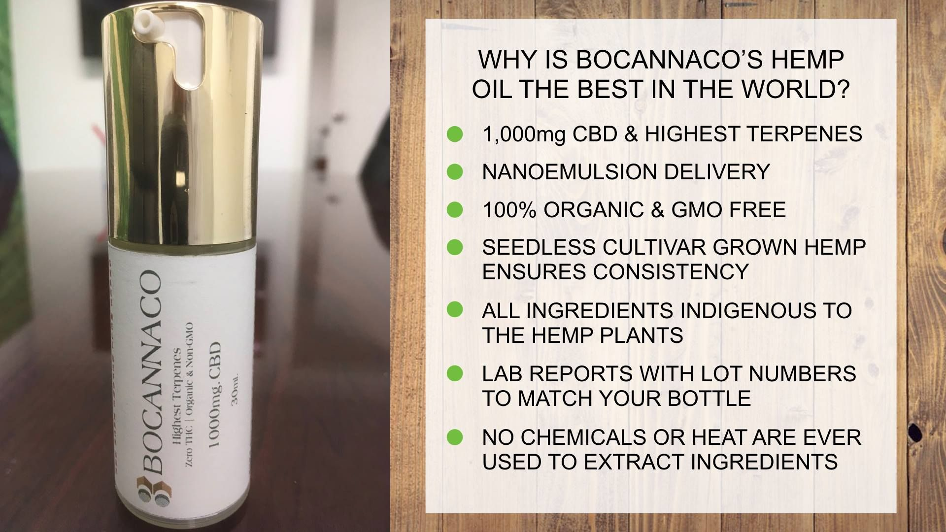 Is Bocanacco a Scam - Product Line
