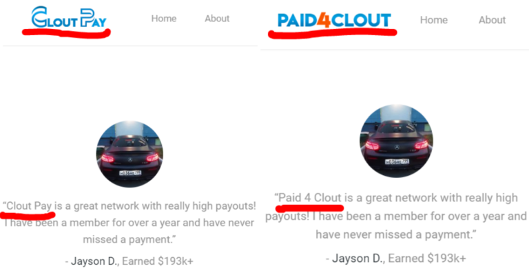 Clout Pay Review - Side by Side WIth CloutPay