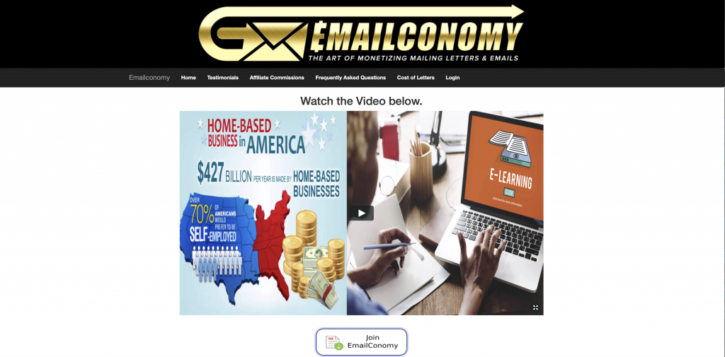 Emailconomy Review - Landing Page