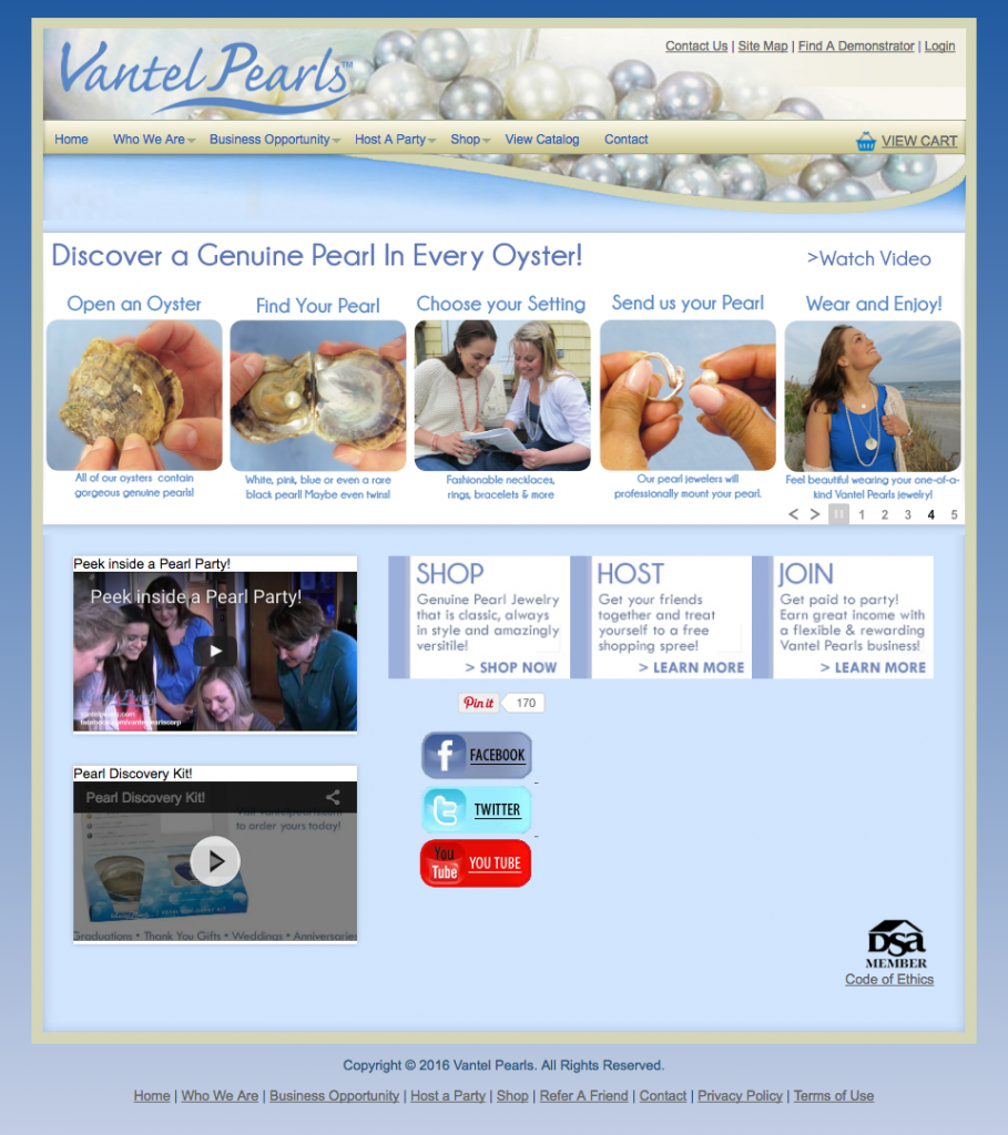 Is Vantel Pearls a Scam -Landing Page