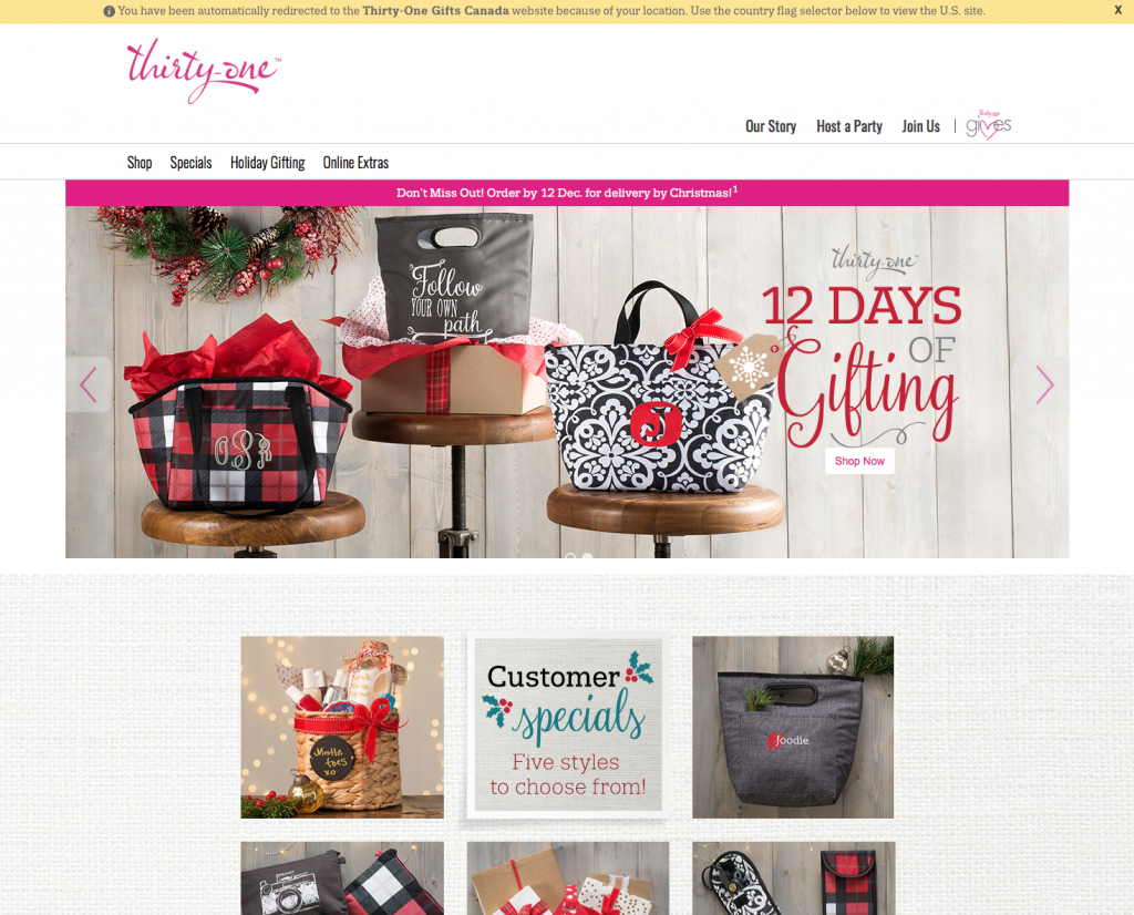 Thirty-One Gifts Review - Landing Page