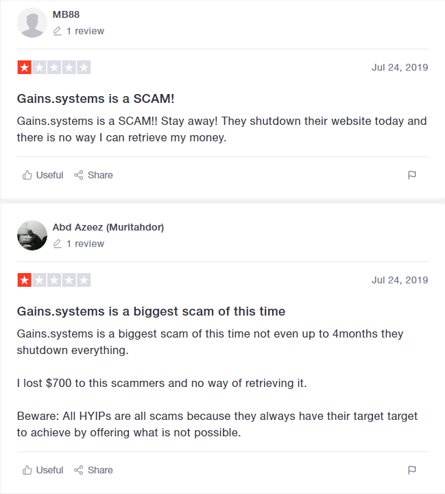 Gains Systems Review - Complaints About Getting Scammed