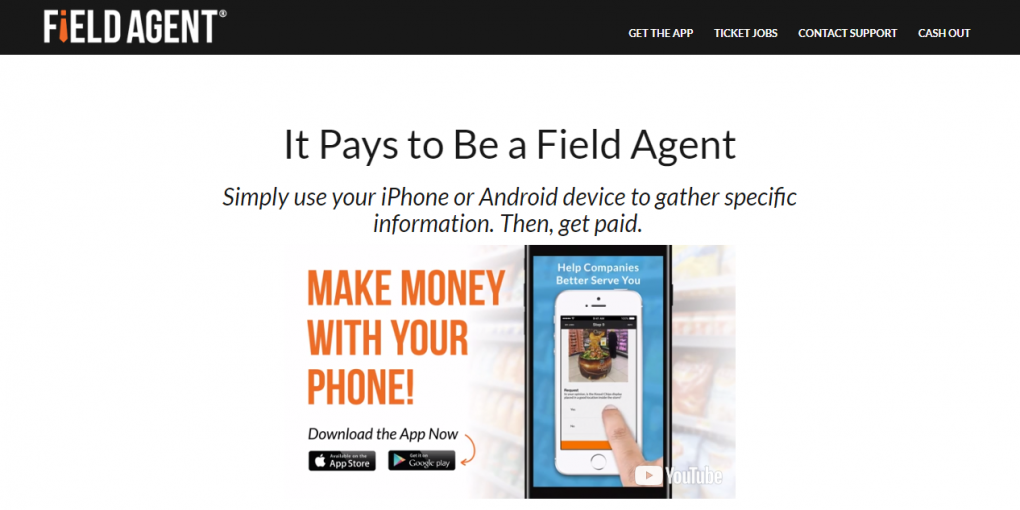 Is Field Agent a Scam - Landing Page