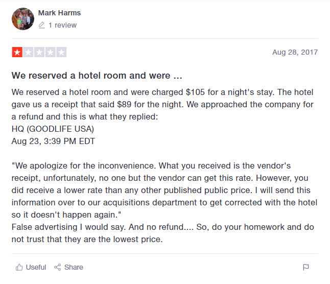 Is GoodLife USA a Scam - Hotel Booking Feedback