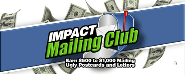 Is Impact Mailing Club a Scam - Landing Page