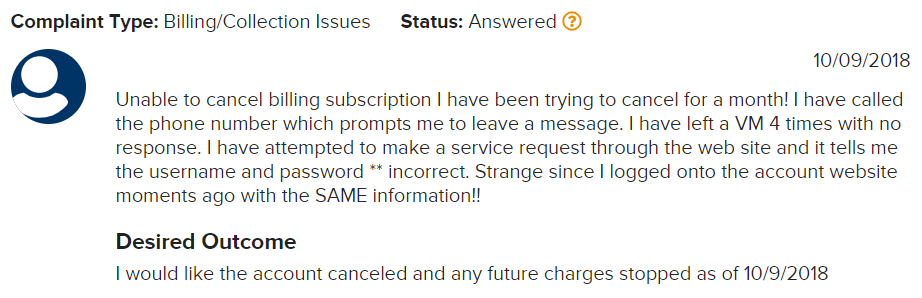 Is Asirvia a Scam - Complaint about not being able to cancel subscription