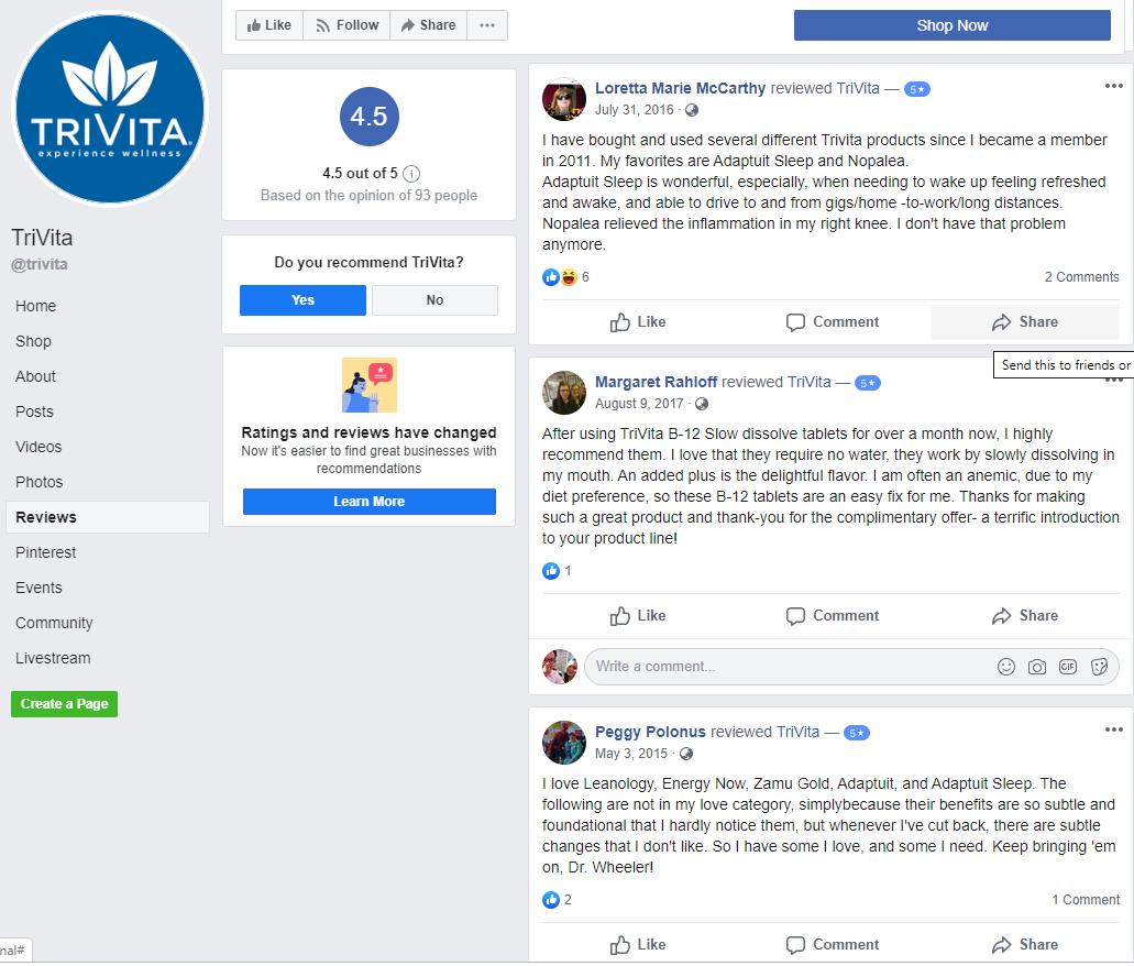 Is Trivita a Scam - Facebook Review