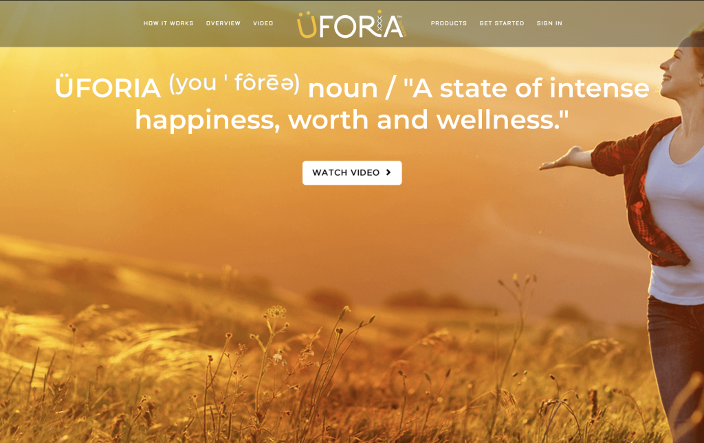 Is Uforia a Scam - Landing Page