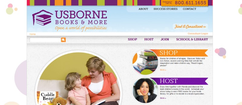 Is Usborne Books a Scam - Landing Page