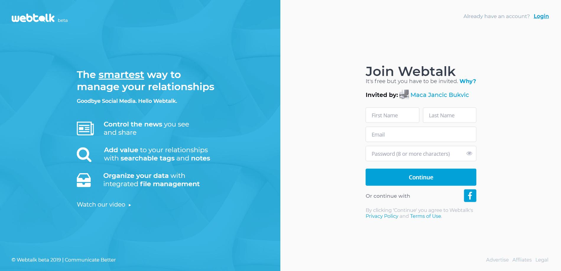 Is Webtalk a Scam - Landing Page