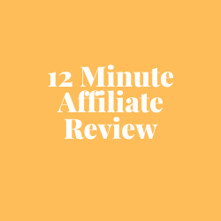 12 Minute Affiliate Review Image Summary