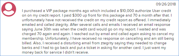 Is ZBlackCard a Scam - Customer Complaint