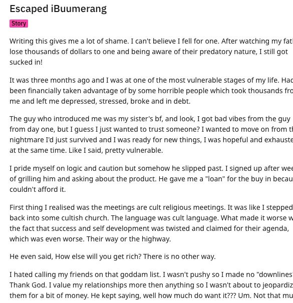 Is iBuumerang a Scam - Horror Story from Ex Member