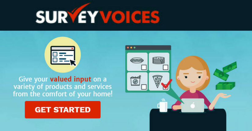 Survey Voices Review - Landing Page