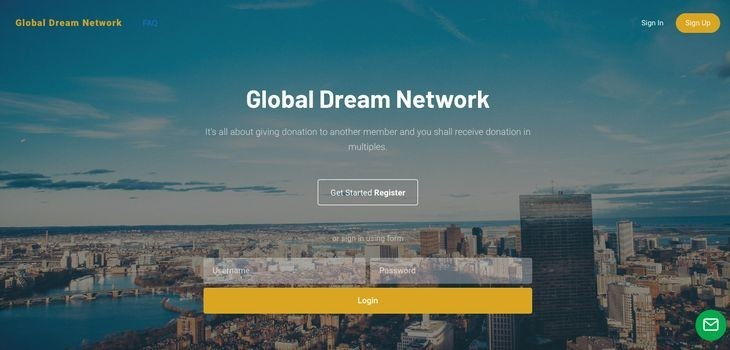 Is Global Dream Network a Scam - Landing Page